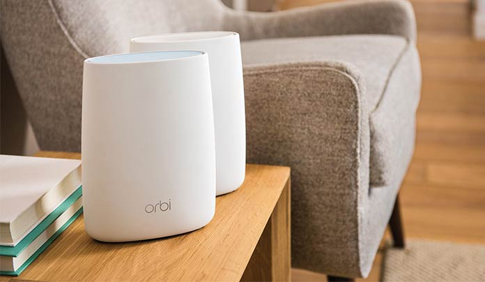 Netgear Orbi High-Performance AC3000 Tri-Band - best mesh wifi network 2018
